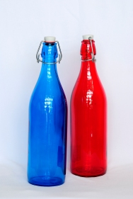 Clear and transparent coloured water bottles - Bormioli Rocco