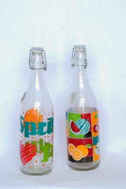 Water bottle with Illustrations - Borgonovo