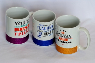 Ceramic cup with message